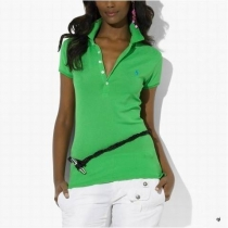 Ralph Lauren Skinny FIit Stretch Mesh Polo Shirt Green