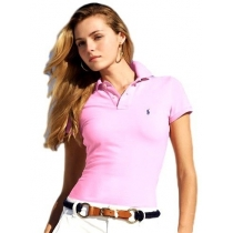 Polo Ralph Lauren  Women's Small Pony Polo Shirt Lite Pink