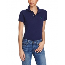 Ralph Lauren Women's Skinny Fit Cotton Mesh Polo Shirt  Navy