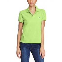 Ralph Lauren Women's Skinny Fit Cotton Mesh Polo Shirt  Green