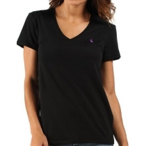 Polo Ralph Lauren Women's V Neck T Shirts Black