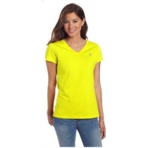 Polo Ralph Lauren Women's V Neck T Shirts Yellow