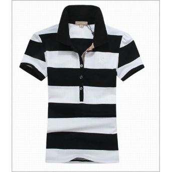 Burberry Women's Striped Cotton Modal Polo Shirt Closeout