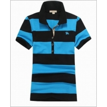 Burberry Women's Striped Cotton Modal Polo Shirt